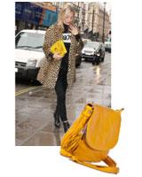 Kate Moss in Leopard met opvallende tas