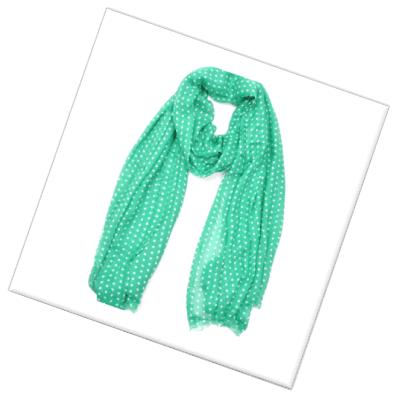 groene-sjaal-witte-stip