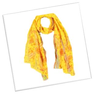 sjaal-geel