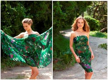 sjaal jurk