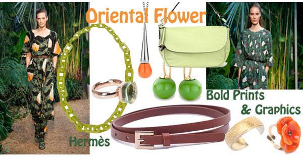 Orientaalse-bloemenprint